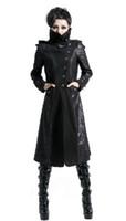 Wholesale Daft Punk Hoodie - Wholesale- Rock Women Punk Stream Long Jacket Coat Hoodie daft Visual Kei Gothic