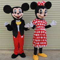 Wholesale Minnie Mouse Character Costume - customized mascots funny Mickey Minnie mascot costume adlut outfits mouse cartoon character mascots for sale