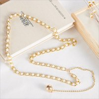Wholesale Clothing Accessories Beads Pearls - Wholesale New Korean Metal Hanging Folder Clip Beads Waist Chain Fashion Clothing Accessories Women Belly Chain Body Jewelry Belt