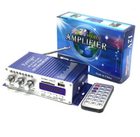 Wholesale 12v mini amplifier motorcycle - kentiger HY502 12v Hi-Fi Mini Digital Motorcycle Auto Car Super Bass Stereo Power Amplifier Sound Enlarger Audio Music Player auto amplifier