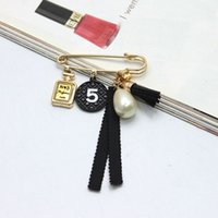 Wholesale Women Wedding Clothing - Hot Sale New Black Charming Brooches Pin Women Elegant Gifts Pins Jewelry Clothing Gifts Girls Bijoux Top Selling Free Shipping