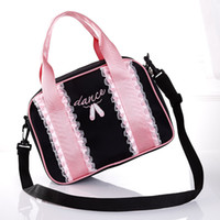 Wholesale Black Dance Bag - Wholesale Pink Clutch Bags Fashion Ballet Dancing Crossbody Women Lace Bags For Kids Ladies Handbags Free Shipping
