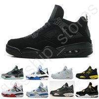 Wholesale Cheap Military Shoes - Cheap Air retro 4 IV Mens Basketball Shoes Military Blue Pure Mars Thunder bred Oreo Fire Red White Cement Shoes Free Shipping