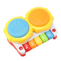 Vente en gros - Clavier Musique Luminous Color Cartoon Instrument de musique Clap Drum Baby Educational Toys Multifonctionnel Drum piano WJ397
