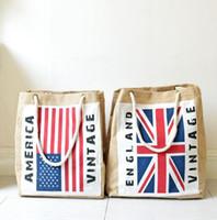 Wholesale England Flag Tote - American Flag Print Fringe Crossbody Messenger Bag Clutch England Flag messenger Shoulder Bag Shopping Tote KKA2507