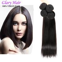 Wholesale Brazilan Body Wave - Brazilan Human Hair Peruvian Indian Malaysian Unprocessed Straight And Body Wave 8-30 Inch 5Pcs Lot Best Quality Wholesale Free Shipping