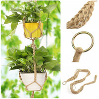 Wholesale Handmade Macrame Plant Hanger Pot Holder Polyester Rope Bright Garden Home Decoration Tiers Flower Plant Display Mayitr