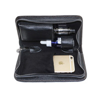 Wholesale Vaping Cases - e cig carrying case vaping portable bag vape travel handbag made by pure leather in stock