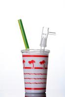 стеклянные трубы чашка кальяна оптовых-Новейшие жидкого меда стекла Бонг водопровод Кубок коробка буровых установок с стеклянными куполообразных кальянов бонги трубы 14 мм совместных
