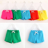 Wholesale Sale Wholesale Brand Clothing - 2017 HOT SALE summer kids cotton shorts boys girls shorts cotton candy clothing beach shorts baby clothing