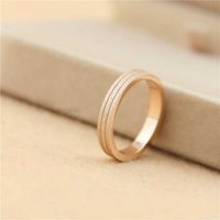 Wholesale Polish Rose Ring - 316L Titanium steel three layers dull polish lovers Band Rings 0.35cm width for Women and Men brand jewelry free shipping PS5459