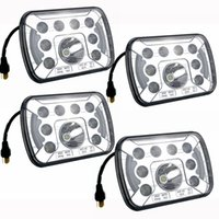 Wholesale Wholesale Jeep Cherokee - 4 PCS 7x6 7x5 LED Headlight H4 Light 55W for Jeep Wrangler YJ Cherokee Comanche 6054