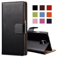 Wholesale Note Flip Back Cover - Genuine Leather Case for Samsung Galaxy Note 4 N9100 Wallet Style Flip Stand Phone Back Cover Coque For Samsung Note 4 Cases