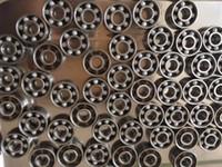 Wholesale Ball Roller Bearing - Wholesale- 100pcs 608 bearing Steel hybrid ZrO2 ceramic ball bearing Finger spinner bearing 8*22*7 mm roller skate wheel bearings