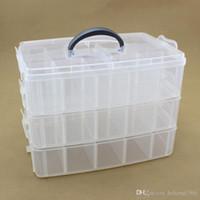çoklu saklama kutusu şeffaf toptan satış-Depolama Bölücü Kutusu Şeffaf Plastik Su Geçirmez Takı Sundries Üç Katmanlar Çok Fonksiyonlu Dayanıklı Bitirme Durumda 11 5pt I1 R