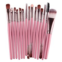 Wholesale Kat Von D Eyeshadow - Brand 15Pcs Professional Kabuki Make up Brushes Set Foundation Blusher Powder Eyeshadow Blending Eyebrow Makeup Brushes VS Kat von D