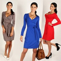 Wholesale Dresses Ruching - Casual Cultivate morality sleeve ruching wrapped in reception dress Plus Size Women Clothing Spring Fall Fashion Women Dress Ladies