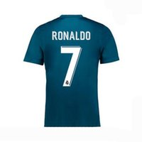 Wholesale Thai Quality madrid soccer Jersey Reals home white away black Benzema Ronaldo MODRIC ISCO BALE SERGIO RAMOS football shirt