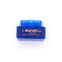 адаптер nissan obdii оптовых-Супер мини Elm327 Bluetooth OBD2 V2.1 блок развертки OBD 2 Elm-327 OBDII инструмента блока развертки автомобиля переходники Андроида Elm 327 автоматический диагностический