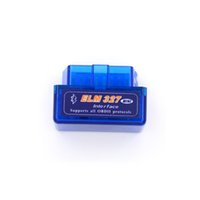 Wholesale obdii car auto diagnostic online - Super Mini Elm327 Bluetooth OBD2 V2 Elm Android Adapter Car Scanner OBD Elm OBDII Auto Diagnostic Tool Scanner