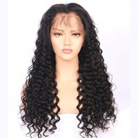 Wholesale Wigs For Black People - Best Full Lace Human Hair Wigs for Black People Water Wave Glueless Lace Frontal Wigs Swiss Lace Medium Size