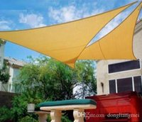 Wholesale HDPE UV protected m Triangle Sun Shade Sail nets amnings Canopy Pre Attached Rope No Tools Needed wn080