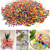 Wholesale Magic Gel Soil - 10000PCS pack Water Aqua Crystal Soil Wedding Gel Ball Beads Vase Centerpiece Water Beads Magic Jelly Ball After soaking 9-11mm