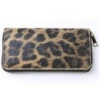 Wholesale Cheap Brown Bags - Leopard Long Womens Wallets Luxury Zipper Alligator Ladies Purse Bags Cheap PU Wallets Hand Bags with Card Holder