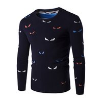 Wholesale Men Fashion Sweater Zipper - Wholesale- Printed Men Sweaters Fashion 2016 Cartoon Pattern Sueter Hombre O-neck Jumpers Pullover Sweater Male Knitwear Brand Clothing Q41