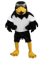 Wholesale Costum Hot - High Quality Hot sale Deluxe Plush Falcon Mascot Costume Adult Size Eagle Mascotte Mascota Carnival Party Cosply Costum