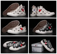 Wholesale Canvas Shoes High Top Women - 2017 CDG Play Converse 1970s Chuck Taylor Shoes comme des garcons Men Women Running Low High Top Skateboard Casual Sneakers 35-44