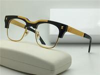 Wholesale Solid Plastic Frame - new Medusa glasses prescription Semi-rimless eyewear gold plated vintage men frame vs427 face logo with original case clear lens optical