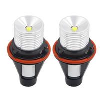 luces bmw e65 al por mayor-6W 12W LED de alta potencia 7000 k Ángulo Ojos Halo Xenon Marcador Anillo Bombilla Canbus Para BMW E39 E53 E60 E61 E60 E65 X5