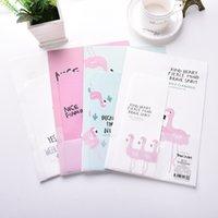 Wholesale Stationery Letter Paper Set - Wholesale- 9pcs Set 3 envelopes + 6 sheets letter paper Lovely Flamingo Series Envelope For Gift Korean Stationery