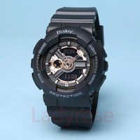 Wholesale Baby Shocks - Popular Mens Sports Hiking Watches LED Digital Baby G Wristwatch GA110 Waterproof Shock Watch All function Work