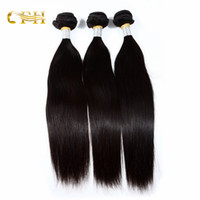 Wholesale High Quality Brazilian Remy Weave - High quality Brazilian remy hair extensions common range Unprocessed human hair weaves natural black dyeable no tangle