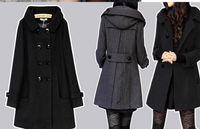 Wholesale Double Breasted Lady Winter Coats - coat long coats winter women jacket female Blends woolen warm overcoat femininos plus size ladies black Clothing 4XL 5XL 6XL