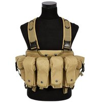 Wholesale Ak Magazines - Camouflage Tactical Vest Chest Rig Bellyband Stomacher Airsoft Ammo AK 47 Magazine Pouch Carrier Combat Hunting
