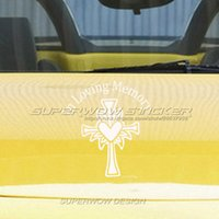 Wholesale Carved Doors - Car stickers IN LOVING MEMORY Christian Jesus crosses love stickers Locomotive body decals Reflective film carved car stickers