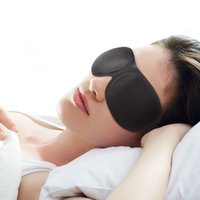Wholesale Black Eyepatch - 3D Eye Mask Healthy Care Black Eyeshade Soft Sponge Sleeping Eye Mask Cover Shade Eyepatch Portable Travel Blindfold