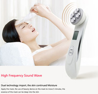 Wholesale Electroporation Skin Care - Facial Mesotherapy Electroporation RF Radio Frequency LED Photon Skin Care Device Face Lifting Tighten Eye Facial Skin Massager