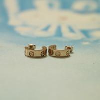 Wholesale Love Screw Earring - Fashion brand silver 18k rose gold 316L stainless steel women screw love stud earrings ear studs jewelry