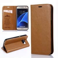 Wholesale Iphone Case Sheepskin - For iPhone 7 Plus Sheepskin Grain Leisure Wallet Case PU Card Slot Kickstand With Powerful Magnet For iPhone 6 6S Plus Opp Bag