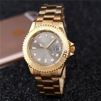 Wholesale Product Tags - aaa quality top sale New fashion products brand gray dial automatic mens watches luxury gold cheap Mechanical date day metal stainless table