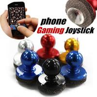 iphone emici toptan satış-Mini Dokunsal Oyun Denetleyicisi iPhone için Mini joystick dokunmatik veya Android Oyun Cihazı Perakende Paketi Ile cep telefonu roker enayi b1284