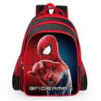 Wholesale Girl Spiders - Children spiderman school bags New Cartoon spider man printing schoolbags kids backpack for girls & boys 1pcs drop ship