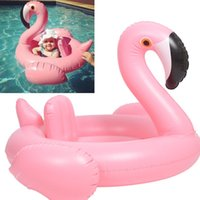 Wholesale Inflatable Toddler Swimming Pools - Baby Float Flamingo Seat Float Inflatable Floats Swimming Aids Pool Beach Toys Toddlers Swim Circle Pool Toys Baby