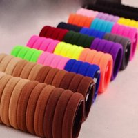 Wholesale Braiding Braid Hairstyles - 50pcs Elastic Ties Rope Ponytail Holders Hair Accessories Tools To Create Hairstyles Hair Styling Tools Hair Braiding Machine
