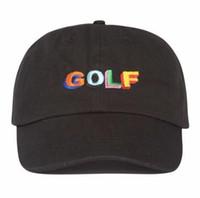 siyah çapraz gömlek toptan satış-Tyler Creator Golf Şapkası - Siyah Baba Cap Wang Çapraz Tişört Earl Odd Future
