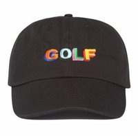 Wholesale golf wang caps - Tyler The Creator Golf Hat - Black Dad Cap Wang Cross T-shirt Earl Odd Future